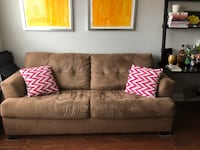 Brown sofa sleeper - $100 OBO Washington, 20009