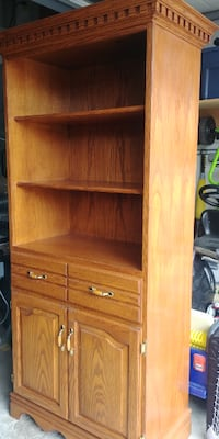 Solid Wood European Hand Crafted Display Case / Bookcase