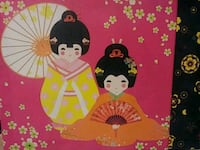 Colorful oriental dolls canvas painting Oklahoma City, 73162