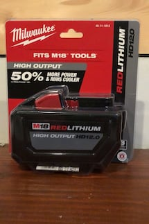 Milwaukee M18 red lithium HD 12.0 battery
