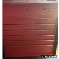 red and black Craftsman tool cabinet 541 km