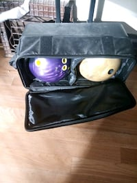 2 bowling balls and a case for them call Chris 312 Chicago, 60621