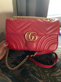 Red Leather crossbody bag Lowell, 01851