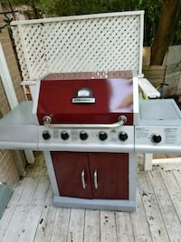 red and gray gas grill Oakville, L6J 7W5