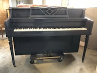 black and gray upright piano Georgetown, L7G 6C7