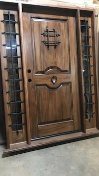 new rustic door with sidelites 5-footer NEW