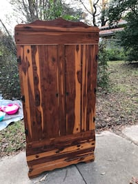brown wooden 2-door cabinet Shreveport, 71104
