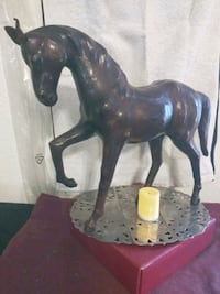 Leather Encased Handmade Paper-Mache Stallion Henderson, 89015