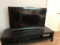 Black TV stand, stand only not TV...$49 or best offer  Shelton, 06484