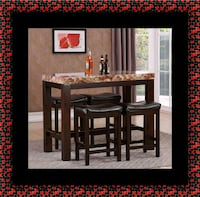 5pc pub table with 4 stools Landover Hills, 20784