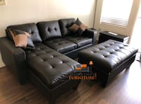 Brand New Espresso Bonded Leather Sectional Sofa  Silver Spring, 20910