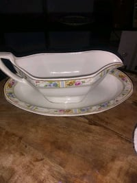 English Gravy Boat and Saucer