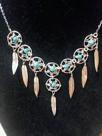 Sterling Silver and Turquoise necklace  Reston, 20191