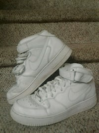 pair of white Nike Air Force 1 high shoes Oakville, L6M 3K2