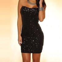 Black party mini dress
