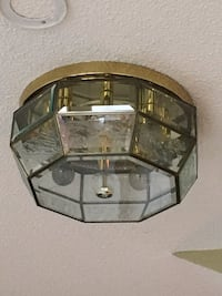 3 High quality beveled Flush mount ceiling fixtures.  Vaughan, L4L 7J6