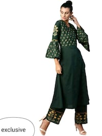 women's green and black floral dress Delhi, 110094