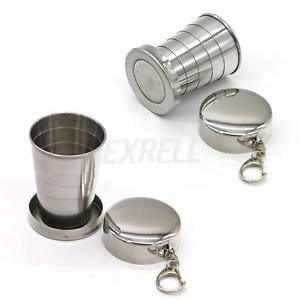 Steel Travel Telescopic Collapsible Shot Glass Emergency Pocket Cup fa8866e7-131a-49c6-86c5-e822dbe1ac2f