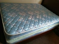 blue and white floral mattress