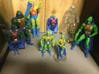 Eight assorted Martian Manhunter action figure collection Edmonton, T5X 6B7