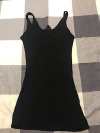 Roots Black Tank Top with buttons Toronto, M6A 2T9