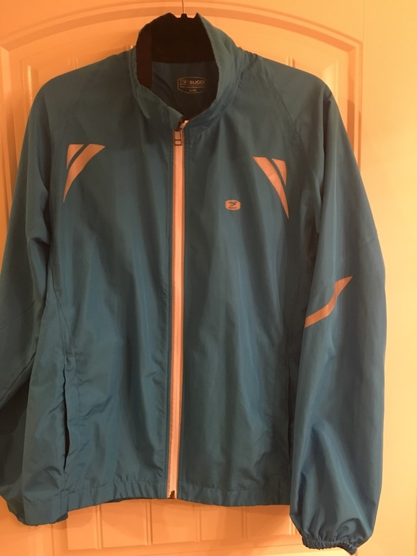 Sugoi blue zip-up jacket Mens L or Women XL