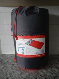 """*Never Used* Outbound Comfort Sleeping Bag. 1 Person 75"""" (191 cm) x 33"""" (84 cm). Fits up to 6' person. Full length with 2 way zipper, black in colour, compact. $15 PU Morinville Morinville"""
