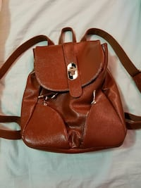 Brown Leather backpack New York, 10040