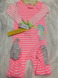 Carter's pink and white stripe onesie 24m Vaughan, L4H
