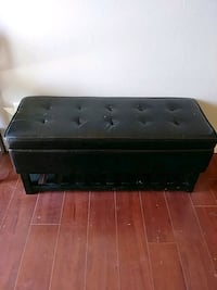 Black leather storage bench North Las Vegas, 89081