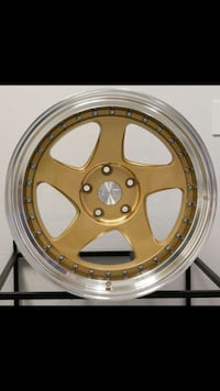17x9 5x100 5x114.3 new gold rims set 35 offset