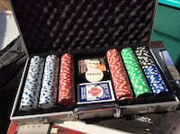 Assorted-color poker chip set with case Calgary, T2S 2R2