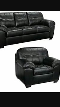 black leather couch and sofa two chairs