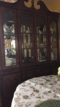 Brown wooden framed glass display cabinet Alexandria, 22306