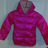 Size 6-6X little girls pink coat