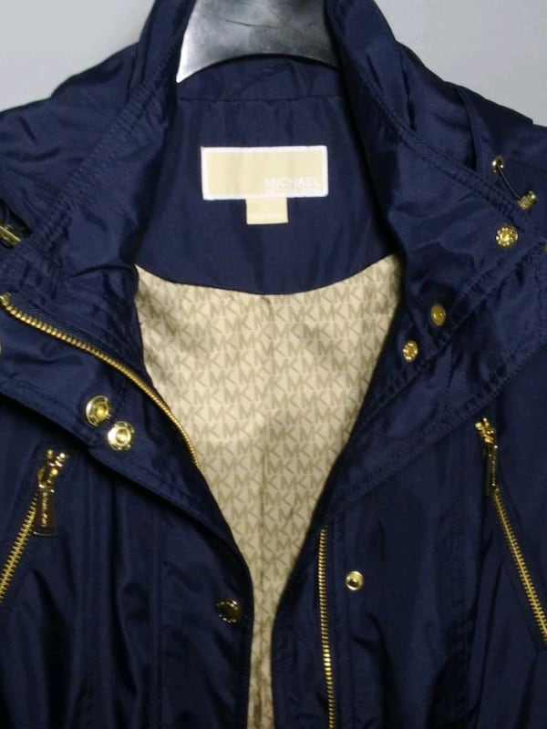 Michael Kors rain coat. Size S. Navy blue. New with tags. Retail $220. 8