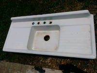 Farm sink 54x23 dated 1951 cast iron Thibodaux, 70301