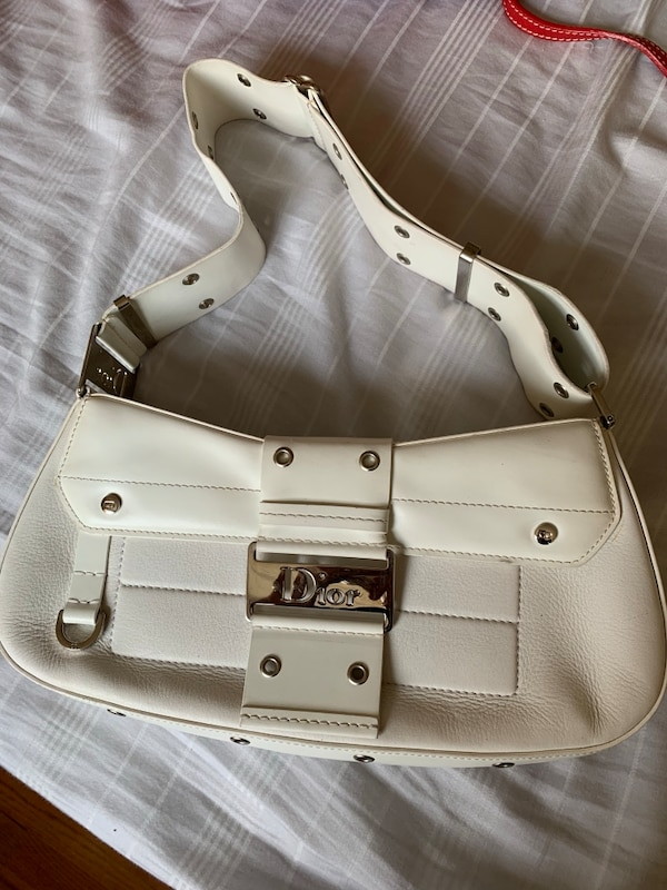 Christian Dior white shoulder bag 4