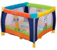 baby's yellow and blue travel cot Fort Pierce, 34951