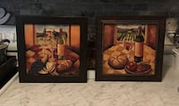 Set of 2 beautiful framed wine wall decor