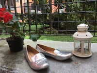Scarpe di paillettes-silver sequins loafers Milan, 20145