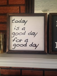 Today is a good day for a good day print board in brown wooden frame Smith-Ennismore-Lakefield, K0L