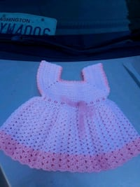 pink and white knitted dress Vancouver, 98661