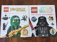Two Lego dictionary books one star wars and one LEGO Ninjago.