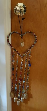 Gemstone beaded heart hanging decor New York, 10023