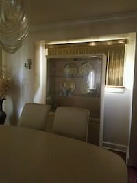 Dining set - table, 6 chairs and china cabinet.