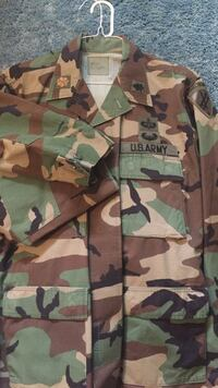 Brown gray and green camouflage print u.s. army jacket Highland, 20777