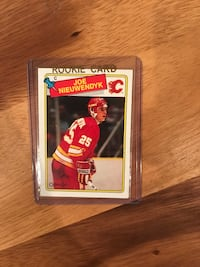 1988 Joe Nieuwedyk Rookie Hockey Card Calgary, T2M 2P2