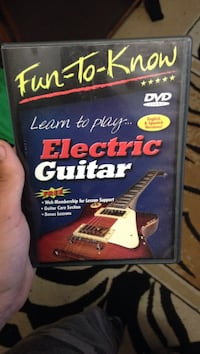 Fun-To-Know Learn to play Electric Guitar DVD case Sudbury, P3A 2G5