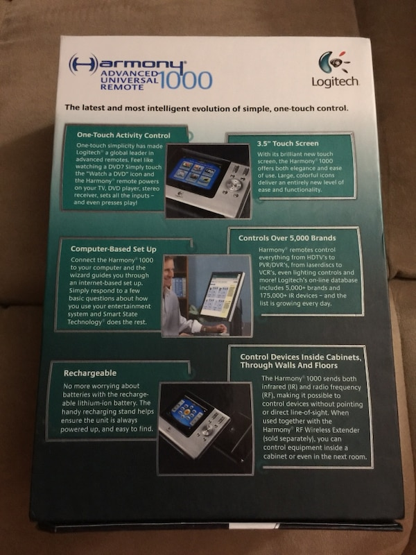 Logitech Harmony 1000 touch screen lcd remote control $80 obo